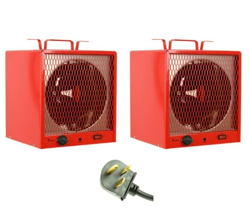 (2) Dr Heater Dr-988 5600W Garage Workshop Portable Space Heaters