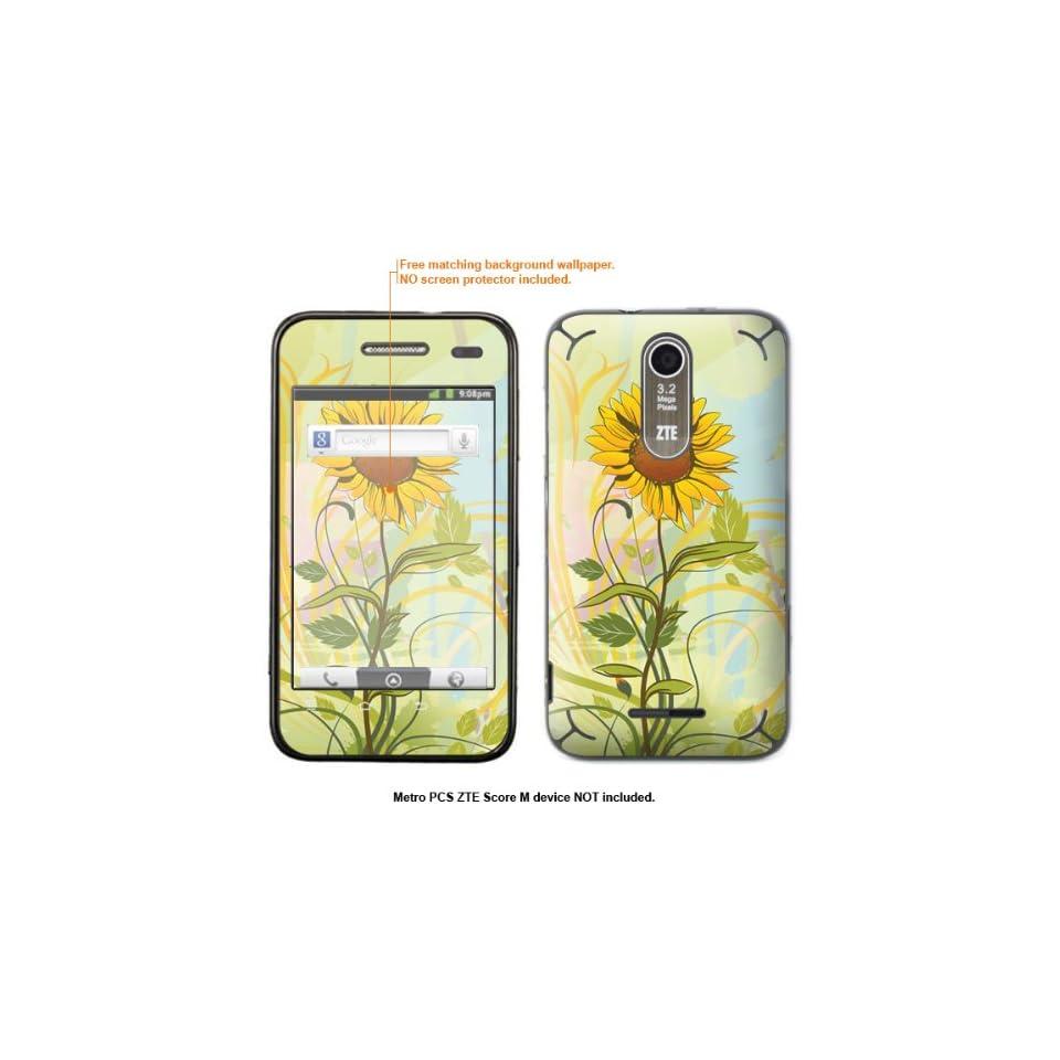 Protective Decal Skin Sticker for Metro PCS ZTE Score M case cover ZTEscoreM 358 Cell Phones & Accessories