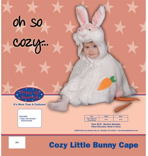 Cozy Little Bunny Toddler Costume Size 6T