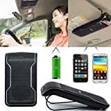 Anleo BL Wireless USB In-car Handsfree Bluetooth Speakerphone Sunvisor Car Vehicle Kit For Mobile Phone (Not fit for Tablet PC) Black Type Strong signal Clear Sound And Nonradiative