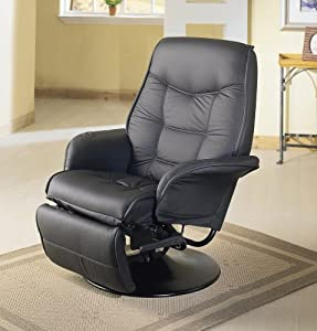 Coaster Swivel Recliner-Black