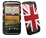 Htc One X Ultra Slim / Thin Printed Soft Rubber Gel Jelly Skin Back Case Cover Plus Screen Protector & Polishing Cloth (RED UK FLAG)