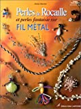 Perles de rocaille sur fil mtal