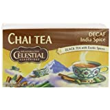 Celestial Seasonings Chai Tea, Decaf India Spice, 20-Count Tea Bags (Pack of 6)