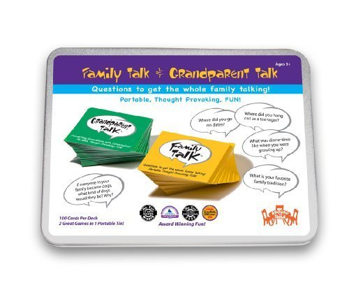 Family Talk and Grandparent Talk Double Deck Tin by Around the Table Games