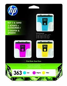 HP 363 Pack Vivera d'origine 3 Couleurs Cyan Magenta Jaune
