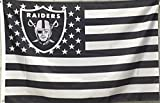 Oakland Raiders With US Stripe Star Flag (3ftx5ft)