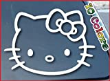 Bumper Sticker / Decals Hello Kitty Car Window Vinyl Decal Sticker 152mm Wide (Color: White)