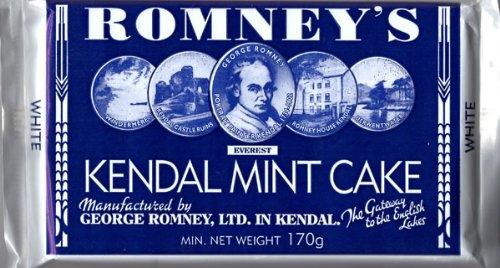 ROMNEY'S OF KENDAL Kendal Mint Cake WHITE 170g / 5.99oz x1