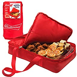 Budweiser Insulated Casserole Carrier- Game Day Tailgating Appetizer Carrier - (11\