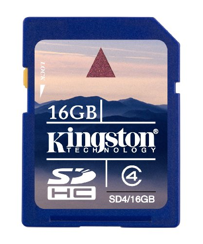16 GB SDHC Card Kingston Flash Memory Card Class 4 SD4/16GB