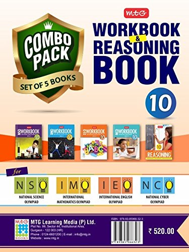 Class 10: Work Book and Reasoning Book Combo for NSO-IMO-IEO-NCO