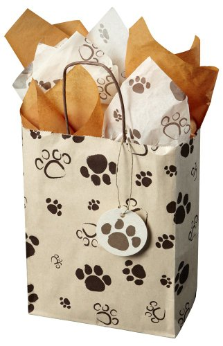 Pathway Creations Pawprint Gift Bag and Tissue