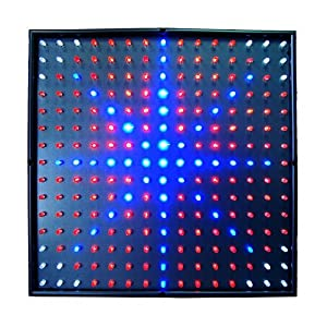 HQRP Quad-Band 225 LED 14W Blue + Red + Orange + White Indoor Garden Hydroponic Plant Grow Light Panel 14W + Hanging Kit + UV Meter
