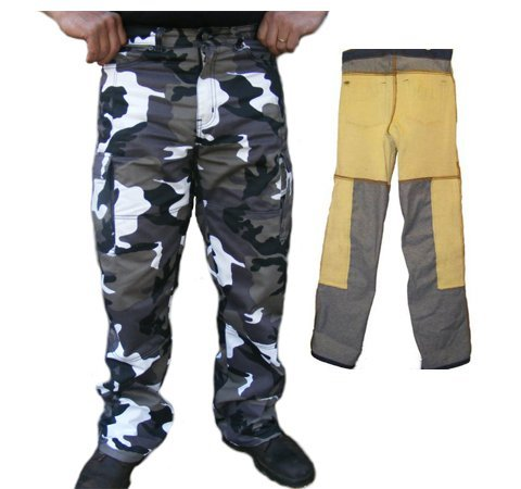 Australan Bkers Gear Cargo Camo Kevlar Motorcycle Jeans/Trousers CE Armoured (38L) - 38L