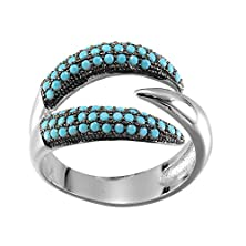 buy Turquoise Rings-Kivn Womens Fashion Jewelry Pave Cz Cubic Zirconia Rings (9)