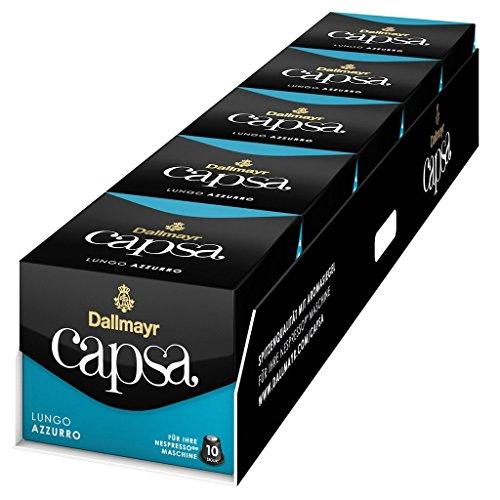 Shop for Nespresso Dallmayr Capsa Lungo Azzurro 10 Capsules, 5 Pack, total 50 Capsules - Nespresso Dallmayr Capsa