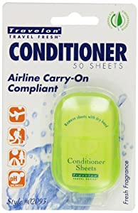 Travelon Conditioner Toiletry Sheets, 50-Count