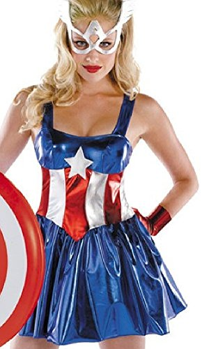 Maconaz Captain America American Sexy Bodysuit Womens Adult Costume