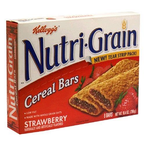 Nutri-Grain Cereal Bars, Strawberry, 8-Count Bars (Pack of 6)