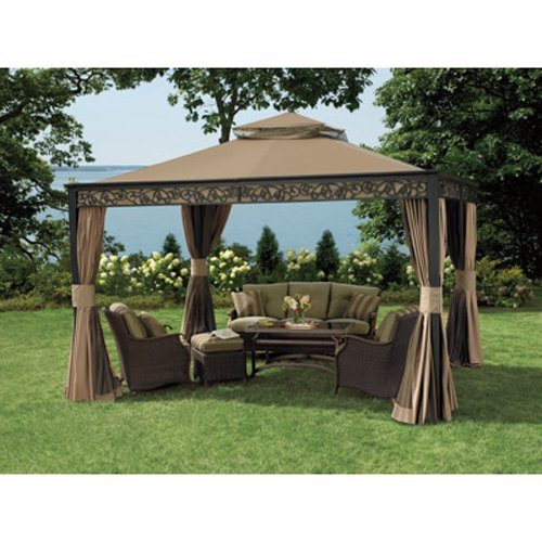 Replacement Canopy For Backyard Creations Gazebo :  Gazebo Replacement Canopy  RipLock 350  Gazebos  Patio and