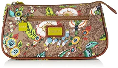 Oilily Womens French Flowers Basic Cosmetic Bag Tobacco Cosmetic bag Brown Braun (tabacco 706) Size: 23x12x5 cm (B x H x T)