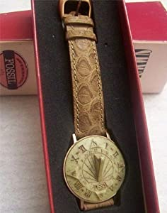 Fossil Sundial Watch SD-7620 Novelty With Camel Band