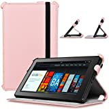 CaseCrown Ace Flip Case Cover (Pink Spark) with Elastic Band Closure for Amazon Kindle Fire