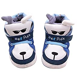 Voberry® Boys Baby Ride Sneaker Toddler Little Kids Boots for Winter (12~18 Month, Blue)