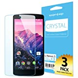 Nexus 5 Screen Protector, Spigen® Google Nexus 5 Screen Protector Clear [Crystal] [3-PACK] **Japanese PET Film** [LIFETIME WARRANTY] Premium Front Screen Protector for Nexus 5 - CR (SGP10559)