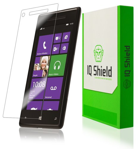 Iq Shield Liquidskin - Htc Windows Phone 8X Screen Protector With Lifetime Replacement Warranty - High Definition (Hd) Ultra Clear Phone Smart Film - Premium Protective Screen Guard - Extremely Smooth / Self-Healing / Bubble-Free Shield - Kit Comes In Fru