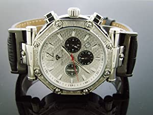 New Aqua Master Round 49mm 24 Diamond Watch Silver Face