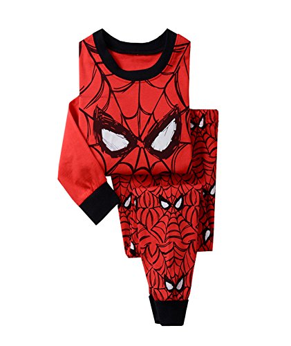 Tuzama Little Boys' Cartoon Spider-man Printed Pajama Shirts & Pants Sets 5 Y (Spiderman Cosplay For Sale)