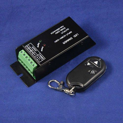 High Voltage Ac90-230V 1 Channel 0.5A Led Dimmer With Rf Remote Brightness Controller For 110V, 220V, 230V Led Lightkingneonlux