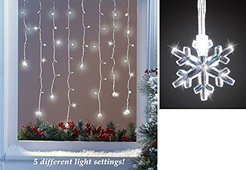 Lighted Led Christmas Snowflake Icicle Lights