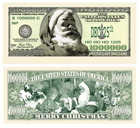 (10) Modern Santa Claus Million Dollar Bill