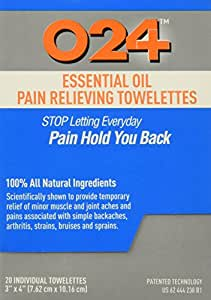 Pain Relief Therapy - Natural Pain Reliever Towelettes for Joint, Muscle, Neck, Back, & All Inflammation - Wipes Used to Treat Arthritis, Tennis Elbow, Carpal Tunnel, Bursitis, Tendonitis, Plantar Fasciitis, Sciatica, Fibromyalgia, Shin Splints, & more