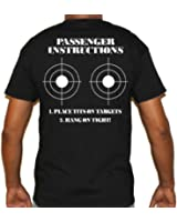 Biker Life USA Men's Place Tits Here Passenger Instructions Short Sleeve Tee