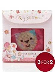 Emily Button™ Cross Stitch Sewing Kit