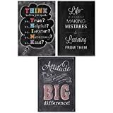 Creative Teaching Press Think Positive Inspire U 3-Poster Pack (7486)