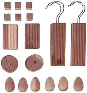 ensemble d sodorisant et anti mites en bois de c dre pour penderie et tiroirs 30pces. Black Bedroom Furniture Sets. Home Design Ideas