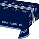 Creative Converting All Over Print Dallas Cowboys Plastic Banquet Table Cover