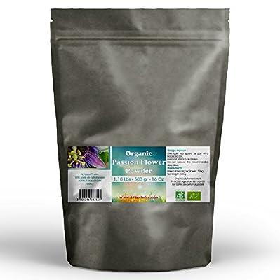Passion Flower Organic Powder 1.10 Lbs - 500 gr - 16Oz