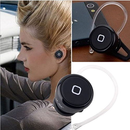 Mo2Mo@ Mini Stereo Wireless Bluetooth Earbuds Headsets Headphones W/Microphone, Exercise Handsfree Earphones Earpieces For Iphone 5S 5C 4S 4,Ipad 2 3 4 New Ipad, Ipod, Android, Samsung Galaxy, Smart Phones Bluetooth Devices (Black)