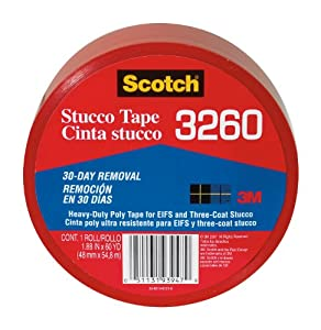 3M 3260 Stucco Duct Tape, 1.88-Inch by 60-Yard, 1-Pack