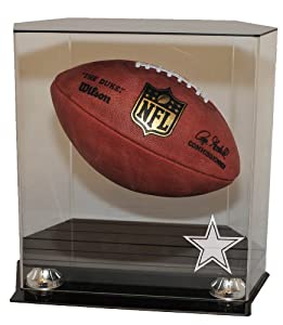 Dallas Cowboys Floating Football Display Case by Caseworks