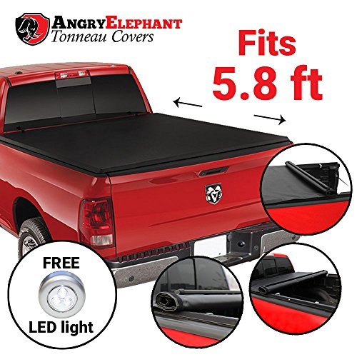 AngryElephant Roll-Up Tonneau Cover for 2009-16 Dodge Ram 1500/2500 5 ft 7 inch (67 inch) bed without Ram Box (with or without utility track system) (Dodge Ram 1500 Lund Tonneau Cover compare prices)