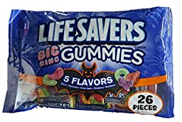 Life Savers Big Ring Gummies, 8.6 oz Bag