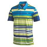 Puma Golf NA Men's Roadmap Stripe Polo Shirt, Blue Aster, X-Large