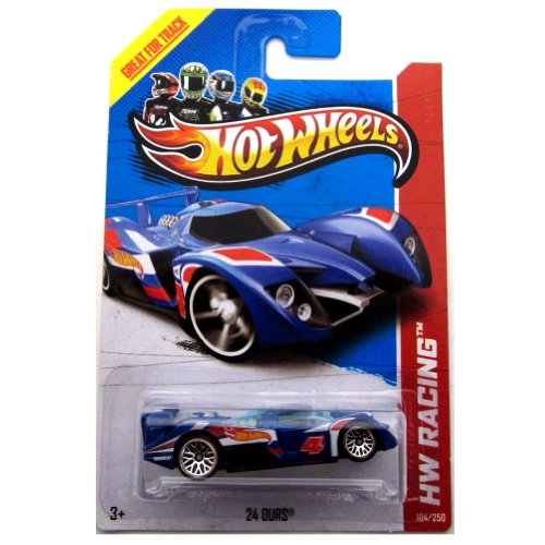 "Hot Wheels 24 Ours (Blue) ""HW Race Team"" (HW Racing - 2013) #104/250 1:64 Scale Die-cast Model Racer"